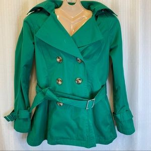 Michael Kors green rain or shine jacket size small
